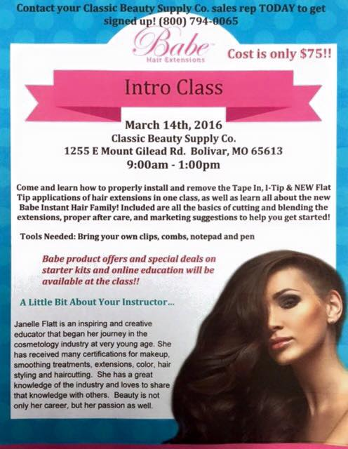 Babe Hair Extension Class At Classic Beauty Supply Co Bolivar