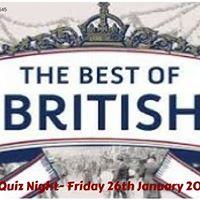 Best of British Quiz Night