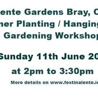 Container Planting  Hanging Basket Gardening Workshop