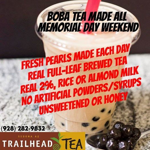 Boba Tea Weekends continue through Labor Day