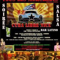 Tous les mercredis soire salsa Cubaine Portoricaine Kizomba Bachata au cuba libre Nice PONTE LOCA