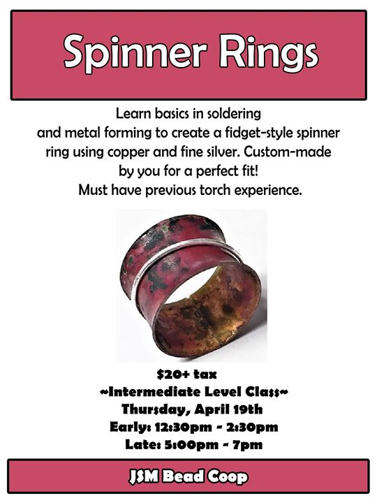 Spinner Rings Early Class at BeadCoop Sheboygan