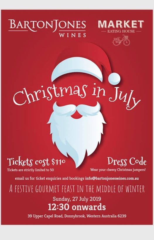 Christmas In July Australia 2019.Barton Jones Wines And Market Eating House Present Christmas