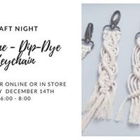 Macrame Dip-Dye Keychain - Craft Night