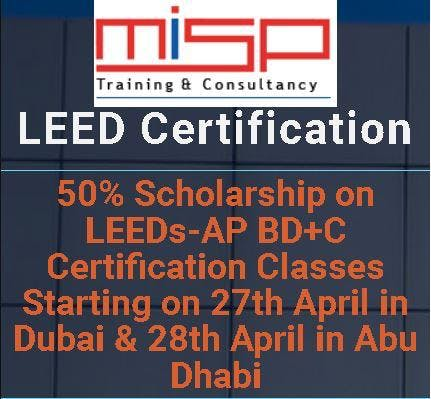 50% Scholarship on LEEDs-AP BD+C Certification Classes Starting on ...