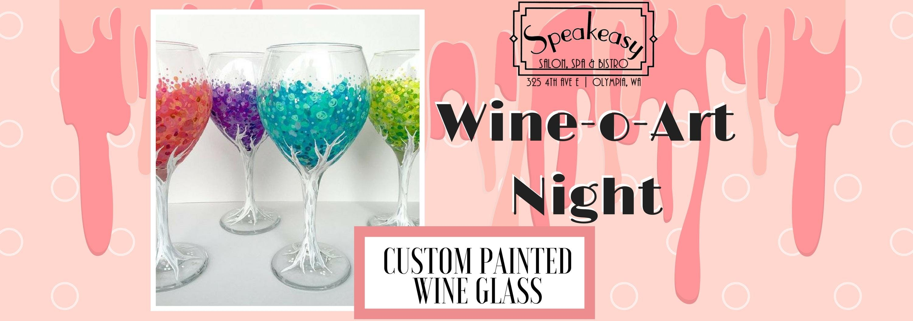 Wine-o-Art Custom Painted Wine Glass