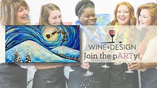 Paint Sip Starry Sleigh Ride At Wine Design Stafford Va556