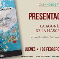 Lanzamiento de la novela La agona de la mscara