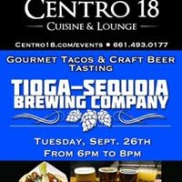 Gourmet Tacos &amp Craft Beer Tasting featuring Tioga Sequoia Brewing Company