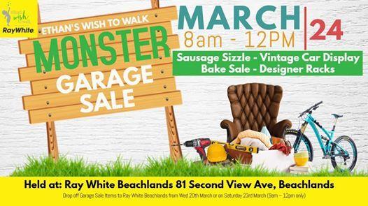 Fundraiser Monster Garage Sale- Ethans Wish To Walk