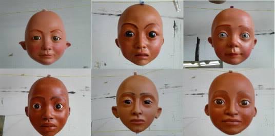 Patine et perruque pour marionnette