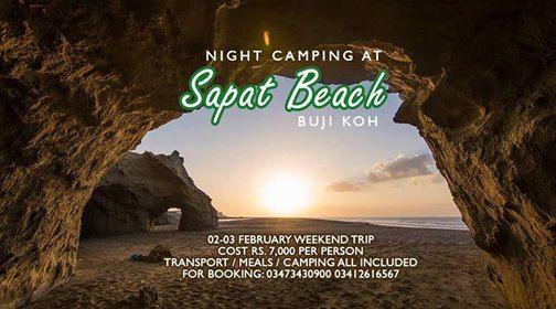 Sapat Beach Buji Koh Night Camping with KTG
