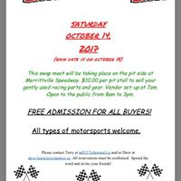 Swap Meet-All motorsports are welcome at Merrittville Speedway