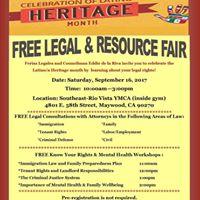 Free Legal &amp Resource Fair-Feria Legal y de Recursos Gratuita
