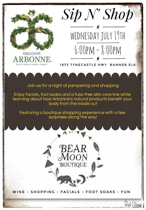 Arbonne Spa at Bear Moon Boutique, Banner Elk