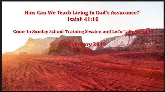 Sunday School Training