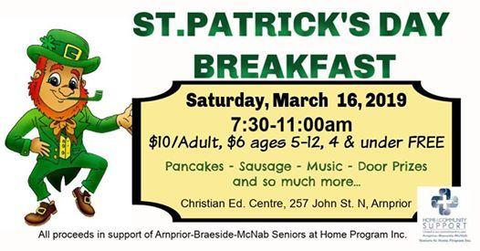 St. Patricks Day Breakfast