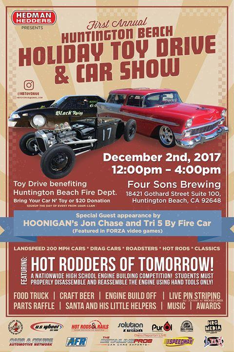 Huntington Beach Holiday Toy Drive And Car Show At Four Sons Brewing - Car show huntington beach