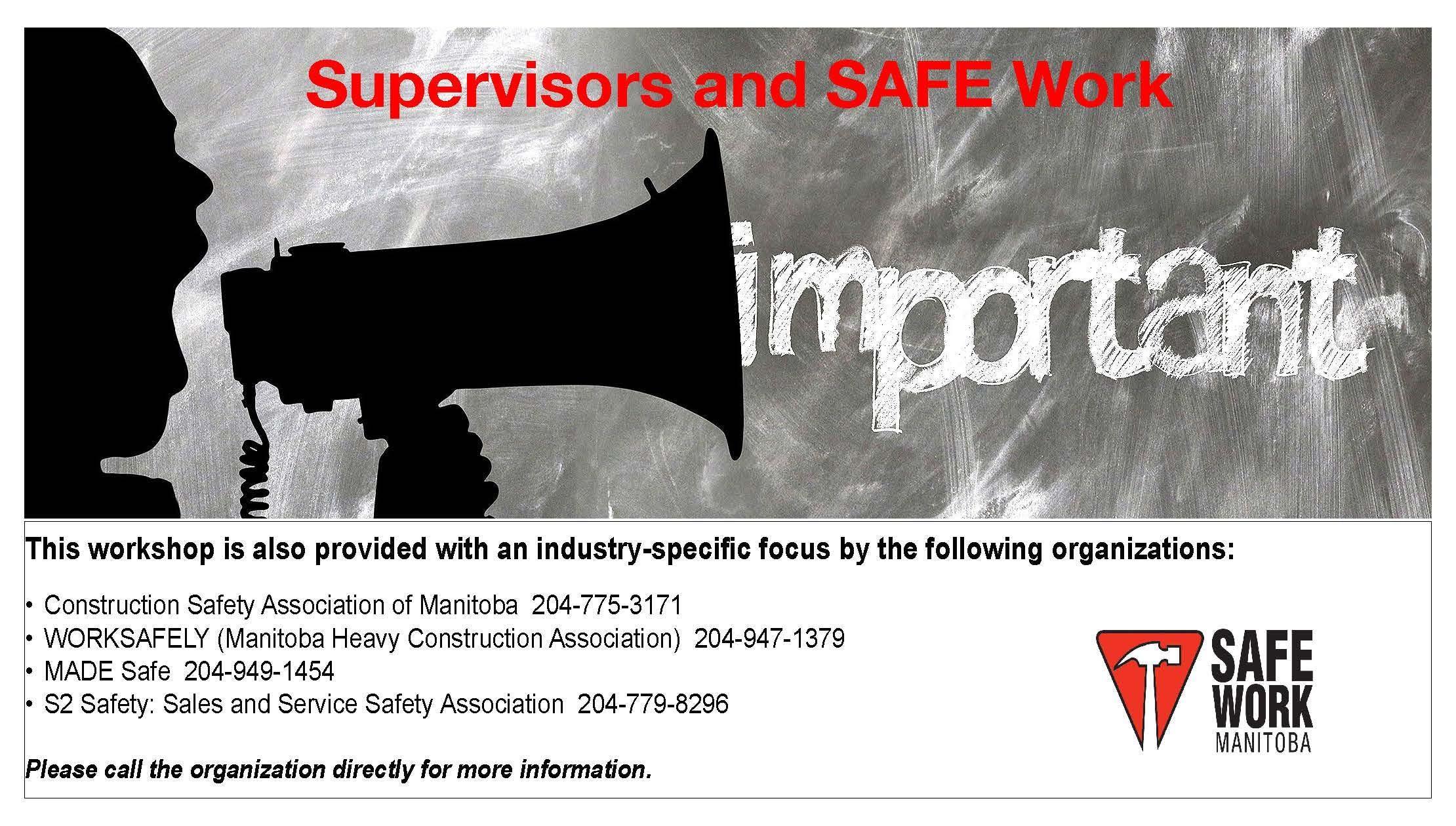 Supervisors and SAFE Work - Brandon MB
