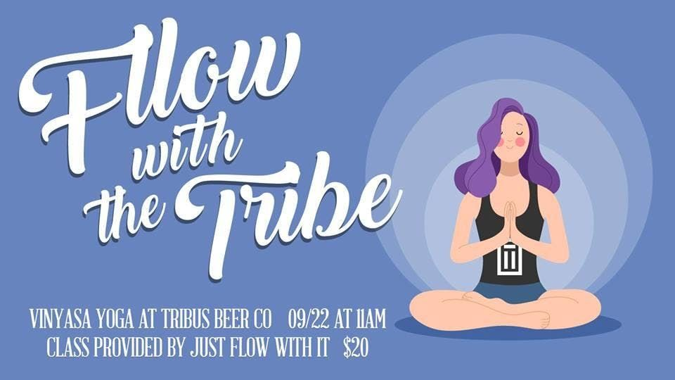 Just Flow with the Tribe - Yoga at Tribus Beer Co. on March 30th