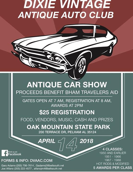 Dixie Vintage Classic Car Show At Oak Mountain State Park - Car show birmingham al