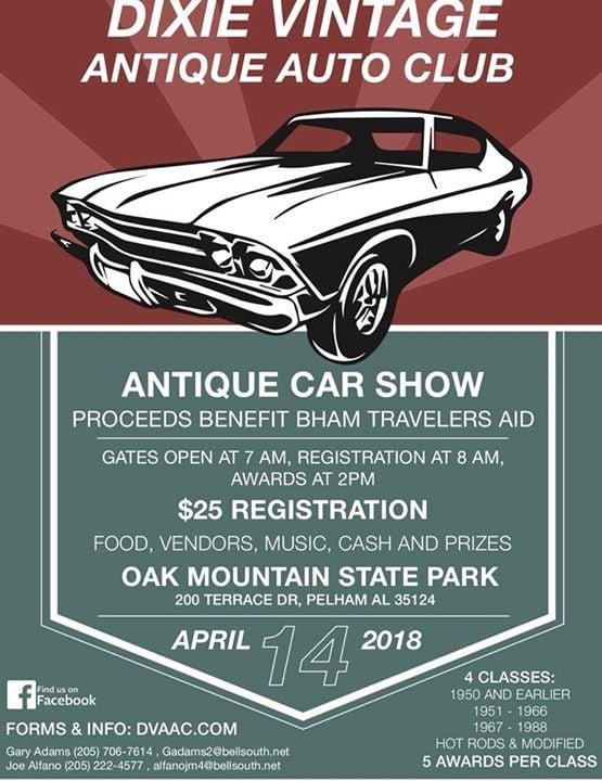 Dixie Vintage Classic Car Show At Oak Mountain State Park - Car show birmingham al