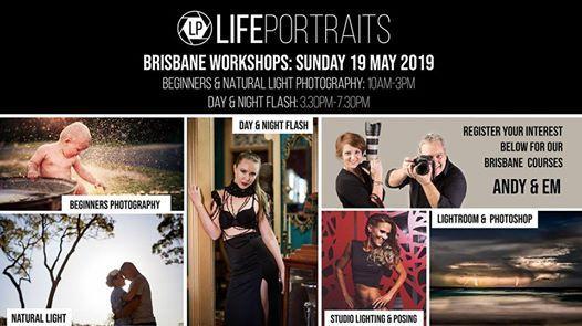 Brisbane Beginners Natural Light & Flash Photography Workshops