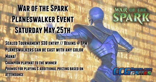 War of the Spark Planeswalker Event at CCGHouse com, Washington