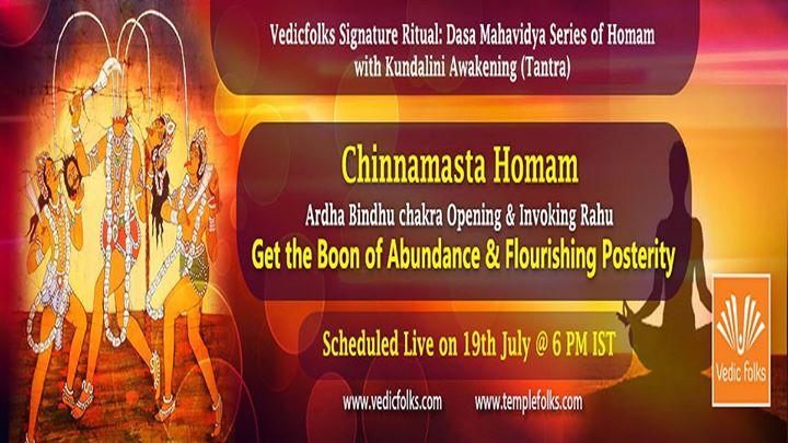 Chinnamasta Homam - Get Boon of Abundance