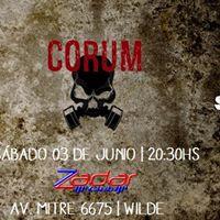 CORUM  cuatro aos  ZADAR CLUB (Wilde) Sbado 03 de Junio