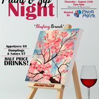 Paint &amp Sip Night At The Met With Pinots Palette