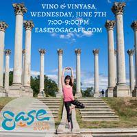Vino &amp Vinyasa at Ease