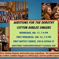 Auditions for Dorothy Cotton Jubilee Singers are Jan. 17