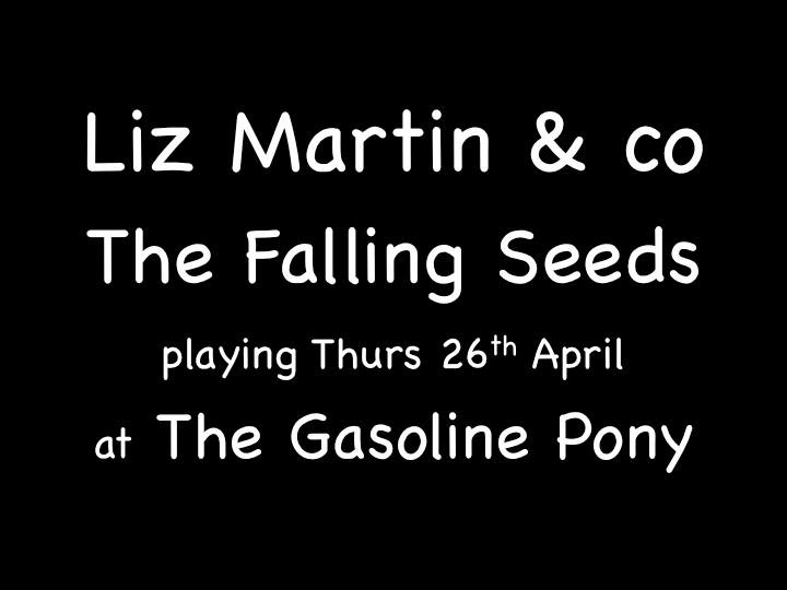 Liz Martin n co plus The Falling Seeds at The Gasoline Pony
