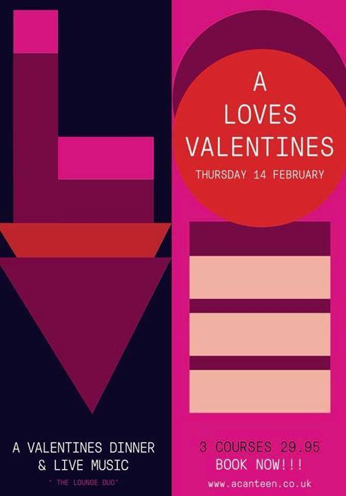 A Valentines Dinner  Live Music  29.95pp
