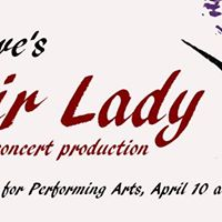 My fair lady in concert at coralville center for the for Coralville arts and crafts show
