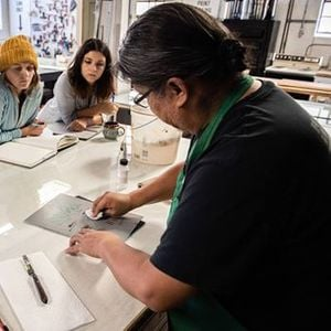 Waterless Lithography Workshop with Virginia Sitzes