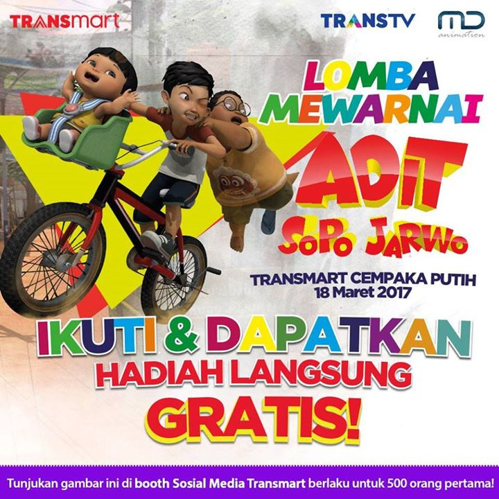 Lomba Mewarnai Adit Sopo Jarwo At Transmart Cempaka Putih Jakarta