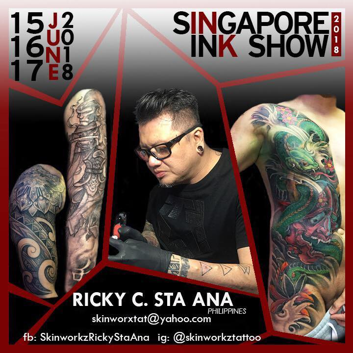 Ricky Sta Ana at Singapore Ink Show