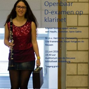 D-examen Manon Soukup (klarinet)