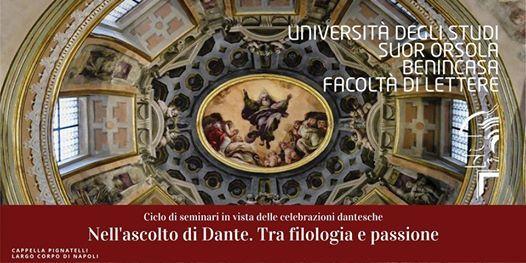 Nellascolto di Dante. Tra filosofia e passione