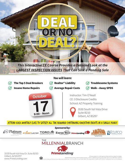 Deal Or No Deal Ce Course At Primelending Millennial Gilbert Az