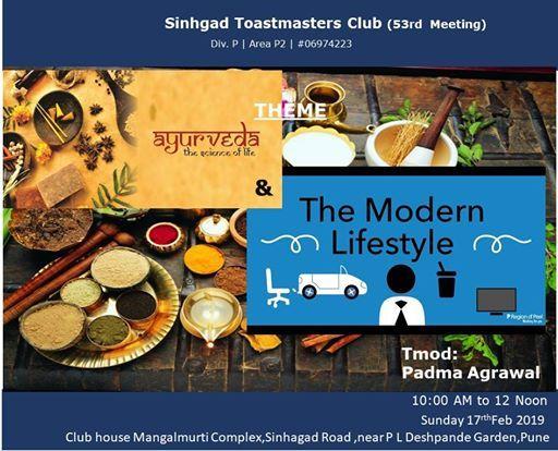 Sinhgad Toastmasters Club 52nd Meeting