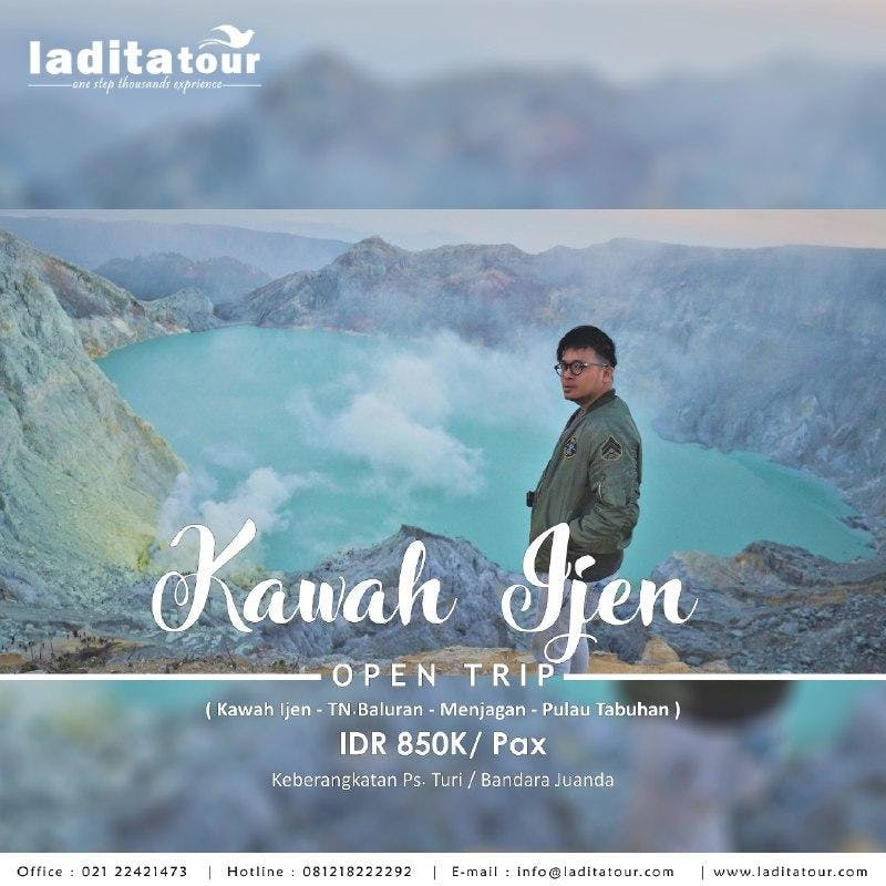 OPEN TRIP Kawah Ijen Baluran Menjangan Tabuhan 15 - 17 Juni 2018 - Ladita Tour Jakarta