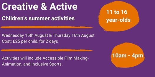 Creative Active Kids 11 To 16 Year Olds