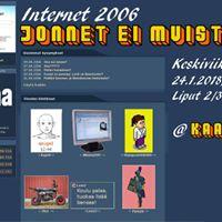 Jonnet ei muista - Internet 2006