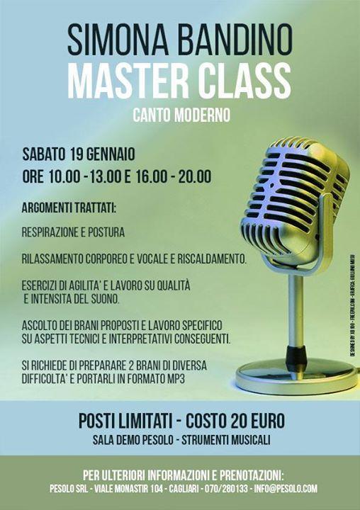 Masterclass di Canto Moderno con Simona Bandino
