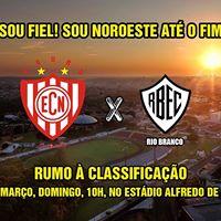 Noroeste x Rio Branco - Domingo - 5 de maro