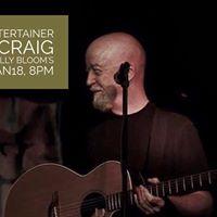 Irish Entertainer Bill Craig at Molly Blooms