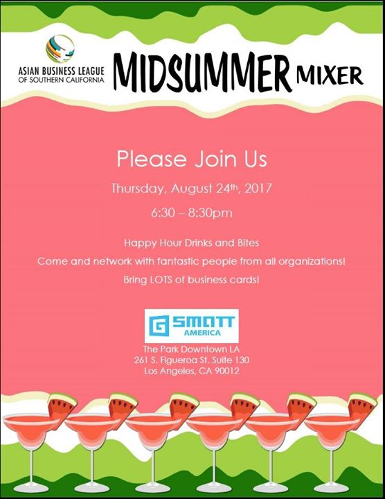 Abl midsummer mixer at asian business league of southern event details reheart Images